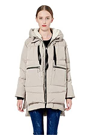 Amazon.com: Orolay Women's Thickened Down Jacket (Most ...