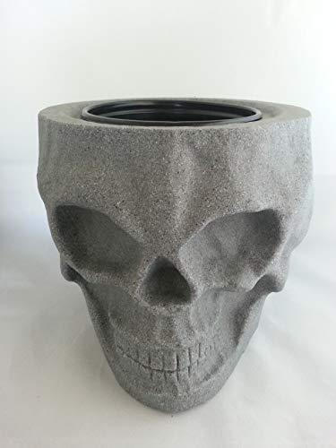 (Skull Tiki Planter (Granite Grey))