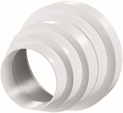 Durchmesser: 100 mm Fibo24 /Ø 100 150 mm Verbinder mit R/ückstauklappe Abluft-Rohr 125