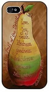 But the fruit of the spirit is ... Love, joy, peace, kindness, goodness - Vintage Apple - Galatians 5:22 - Bible verse iPhone 4 / 4s black plastic case / Christian Verses