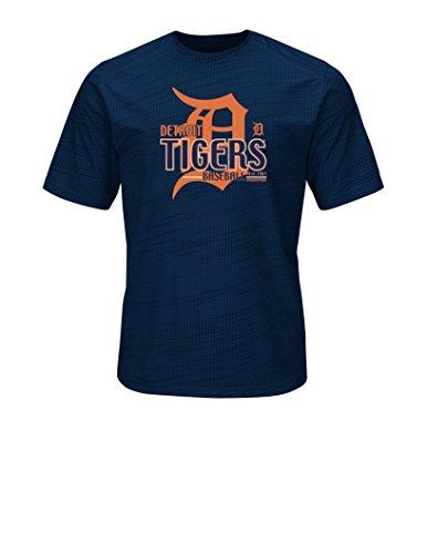 VF LSG MLB Detroit Tigers Men's Bringing The Glory Tops, Navy, Medium