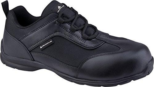 Delta Plus- Big Boss S1p Src Chaussures Basses Cuir Pleine Fleur Et Mesh Noir- S1p Src- Bigbospno47