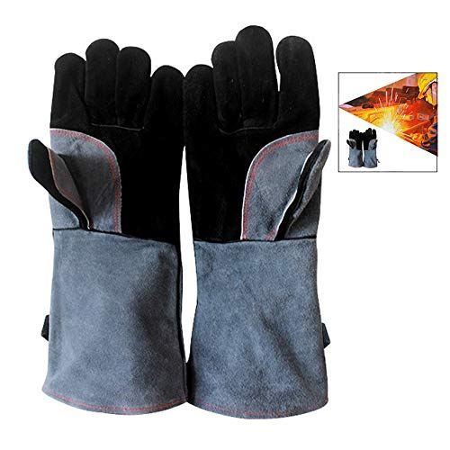 iwobi BBQ Gloves Extreme Heat Resistant Oven Mitts Grilling Gloves for Wood Stove Grill Pot Holder Kitchen Cooking Baking