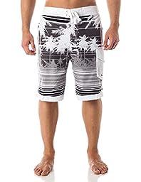 Alki\'i Men\'s Boardshorts - Isla Palms, M, Black