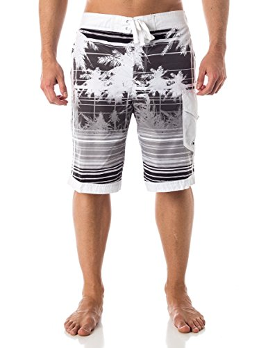 Alki'i Men's Boardshorts - Isla Palms, M, Black
