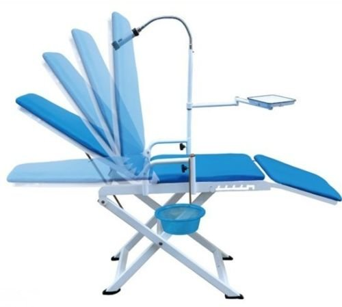 Dental Power Portable Dental Chair Cold Light + Cuspidor Tray Dentistry Equipment Mobile Unit