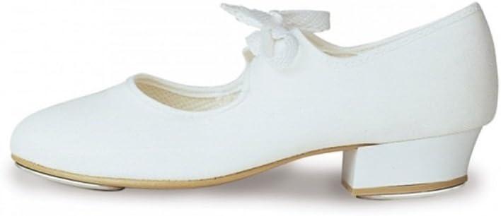 Roch Valley zapatos de claqu/é tac/ón bajo PU blanco ni/ño 5 iBath cabido Tama/ño 6 para adultos