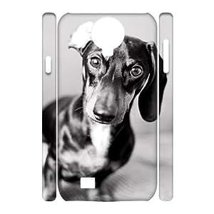 Customized Durable Case for SamSung Galaxy S4 I9500 3D, Cute Dog Dachshund Phone Case - HL-694104
