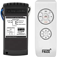 Fnado F2-U [Fixed Code] Universal Ceiling Fan Lamp Remote Controller Kit & Timing Wireless Remote Control For Hunter/Harbor Breeze/Westinghouse/Honeywell/Other Ceiling Fan