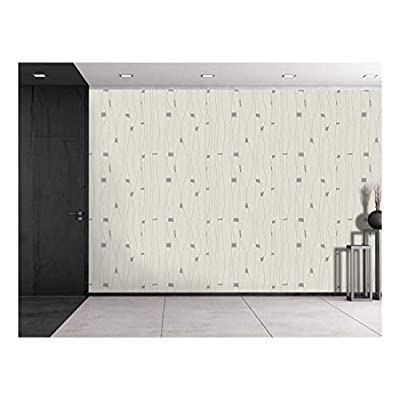 Handsome Artistry, Made With Love, Large Wall Mural Abstract Lines Pattern Vinyl Wallpaper Removable Decorating