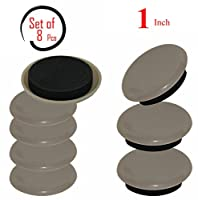 Beige Reusable Furniture Sliders/Movers  Unmatched Surface Protection  Great Fit-Fuzz Free- Refreshingly Quiet Heavy Duty( 8 Pack) -1'' Round Super Sliders
