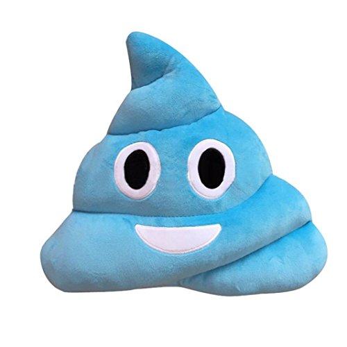 Rumas Amusing Emoji Emoticon Cushion Heart Eyes Poo Shape Pillow Doll Toy Gift (blue2)