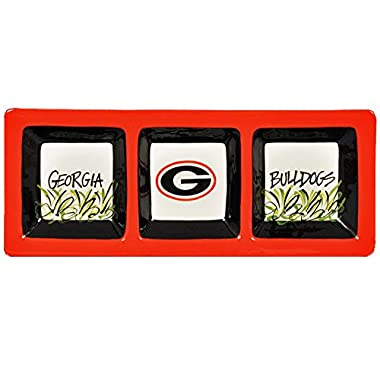 3 Section Serveware Tray (Georgia Bulldogs)