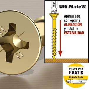 Ulti Mate II - Tornillo Bicrom. 6X80- Cj.Cart.XL-100u.