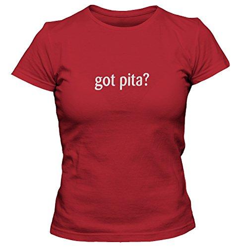 shirtloco Women's Got Pita T-Shirt, True Red Large