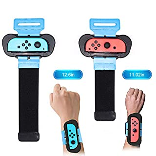 Joytorn Just Dance 2019 Just Dace 2020-Dance Kids Comfortable Wristband for Nintendo Switch,Adjustable Elastic Strap Two Sizes for Adults and Children,2 Pack