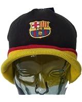 Fc Barcelona Beanie Visor Black New 2014-2015 Winter Skull CAP