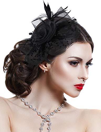Hotvivid Fascinator for Women Tea Party Wedding Headband