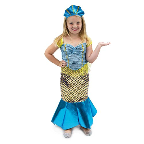 Magnificent Mermaid Children's Girl Halloween Dress Up Theme Party Roleplay & Cosplay Costume (Youth Medium (5-6)) - Mermaid Dress Up Costume