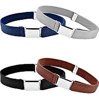 Tatuo 4 Pieces Kids Buckle Belt Kid Adjustable Elastic Belt Boy Stretch Belt for Children Favor