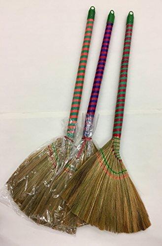 Straw Brooms (Vietnamese Soft Fan (Straw) Broom, 4o Inch)