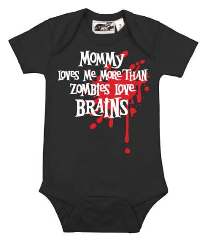 Mommy Loves Me Zombie Splat One Piece Black Small (3-6 months) (Zombie Clothing)