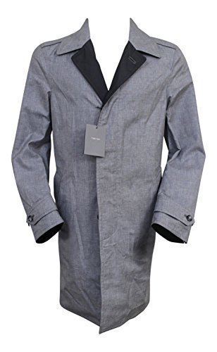 Reversible Silk Coat (Tom Ford Reversible Silk/Linen Blend Gray/Black Trench Coat Jacket 48/38 Reg)