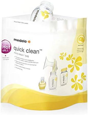 Medela Quick Clean Bolsas de Esterilización Reutilizables, Amarillo