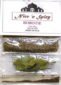 Nice n' Spicy Bobotie spices along with recipe (3 Pack)