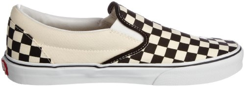 White and Black Checker Slip Vans Core Classics Tm White White on UxHx0v