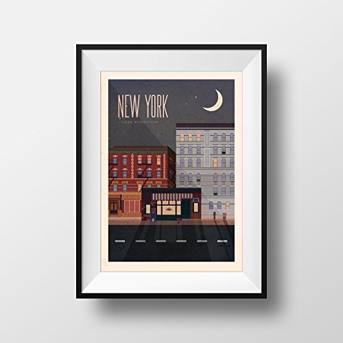 Friends TV show themed New York Travel Poster - Vintage style New York Travel