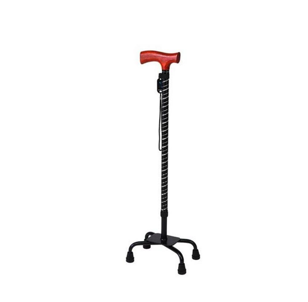 Huwai Höhenverstellbarer Walking Stick mit Wide Base Tetrapod Walking Stick - mit Small 4 Bein Basis