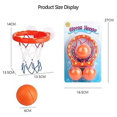nobrand ebera Mini Suctions Cup Basketball Hoop Bath Baby Bathtub Shooting Game Toy Set Baby Bathtub Shooting Game Toy Kids Shower Basketball: Home & Kitchen