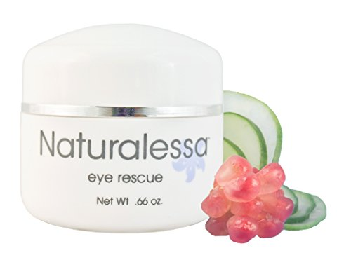 Professional Eye Rescue Anti Aging Intensive Multi Action Cream for Puffiness Brighten Dark Circles Fine Lines Wrinkles - Boost Collagen Restore & Hydrates Delicate Eye Area 0.56 oz Made in USA by Naturalessa (Image #1)