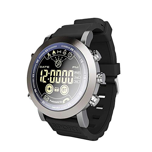 Fstn Lcd - HHoo LEMFO LF23 1.2'' FSTN LCD Full-View Round Screen Smart Watch - with Sports Fitness Tracker,Cloud Service, 5ATM or 50m Professional Waterproof