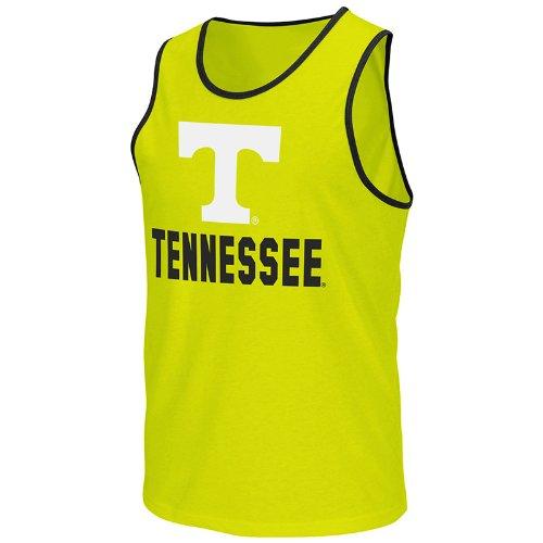NCAA Tennessee Volunteers Men's Phantom Tank Top, Bright Lime, X-Large
