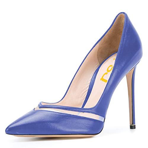Noi Dimensioni Fsj Punta Eleganti Pompe Aguzza Scivolare Talloni 15 Blu Scarpe 4 Spillo Tacchi Su Formali A Da Sera Donne Della Alti Degli 11xqtw5Ur
