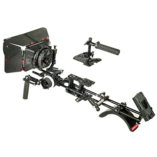 CAMTREE HUNT Advanced Camera Shoulder Kit for Sony NEX-FS700 (FS700-Advanced) Shoulder Stabilizer Rig with Top & Base Plate, Matte Box, Follow Focus & Free Accessories   Protective Storage Cases by Camtree