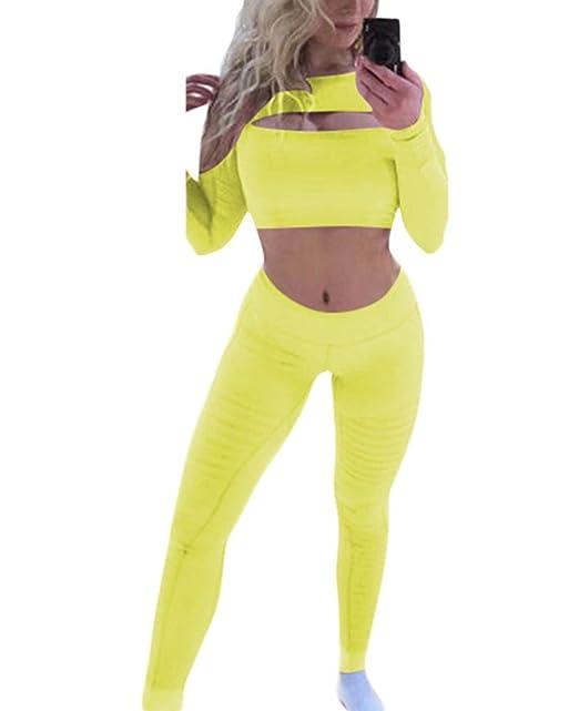 diseñador nuevo y usado buena venta zapatos de temperamento Hellowarm Ropa Deportiva Mujer Tops Cortos Pantalones Largos ...