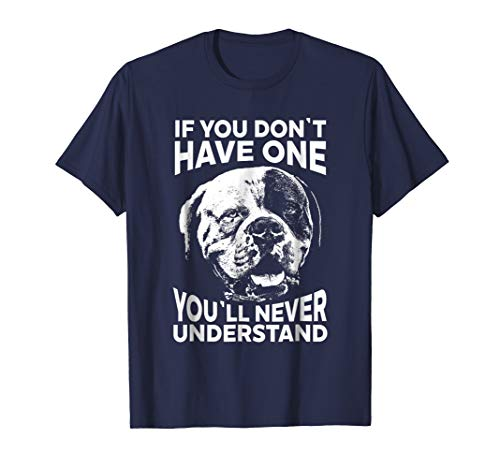 Mens American Bulldog T-Shirt If you don't have one funny tee XL Navy