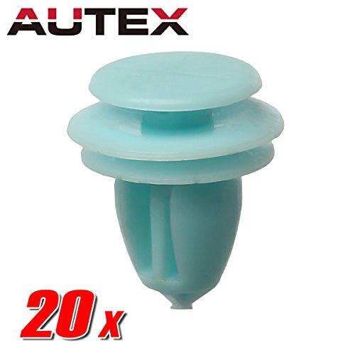 AUTEX 20pcs Door Trim Panel Lining Fastener Rivet Push Clips Retainer Nut for Honda Accord Crosstour Civic CR-V Element Odyssey Pilot Ridgeline Acura ILX Hybrid RDX RL (Retainer Stem Nut)