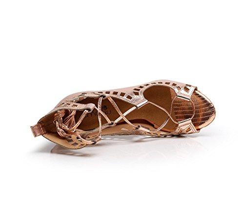 Tango heeled6cm Talons Samba PU JSHOE Chaussures Latine Salsa UK7 Gold Hauts Our42 Moderne EU41 De De Danse Chaussures Sandales Thé Jazz Tqx6TYBf