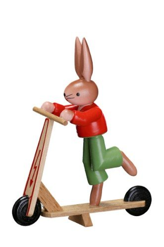 Amazon.com: Zeidler conejo en patinete fabricado en Alemania ...