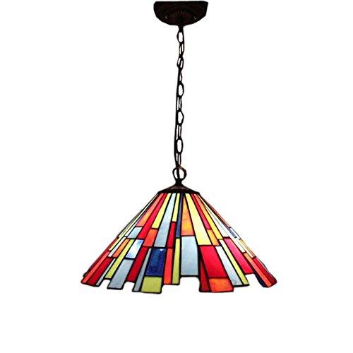 FUMAT Stained Glass Lights Tiffany Pendant Lights Dinning Room Pendant Lamp LED Art Glass Shade Ceiling Pendant Lamp Dia 8