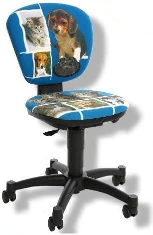 Topstar Chaise de Bureau Enfant Tissu wOW wOW BleuMotif