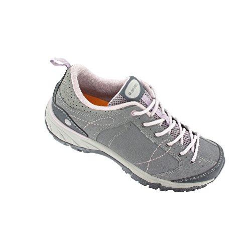 Hi-Tec - Zapatillas de senderismo para mujer gris gris gris