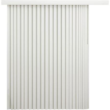 Durable & Non-Flammable Room-Darkening Vertical Window Blinds With Embossed Leaf Pattern, Oyster