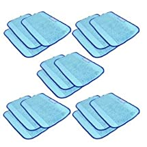 SHP-ZONE Microfiber 15-Pack, Pro-Clean Mopping Cloths for Braava Floor Mopping Robot 380 380T