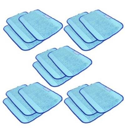 SHP-ZONE Microfiber 15-Pack, Pro-Clean Mopping Cloths for Braava Floor Mopping Robot 380 380T (Starfire Floor)
