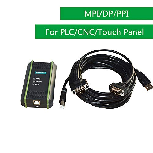 Universal USB PLC Programming Cable, Touch Panel Programming Cable, for Siemens S7 200 300 400 ET200, OP/TP Touch Screen and 840D CNC, Isolated Interface, for 6ES7972-0CB20-0XA0 Replacement, Black ()